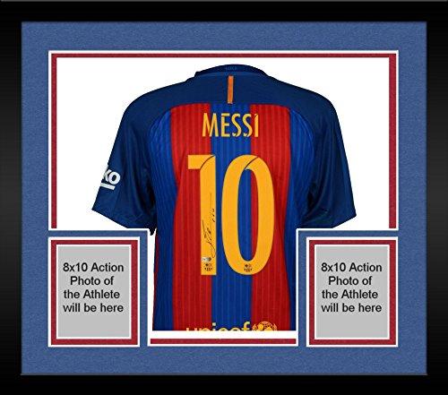 Framed Lionel Messi Barcelona Autographed 2016-2017 Home ...
