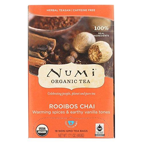 Numi Tea Organic Spiced Rooibos Herbal Tessan Ruby Chai Tea -- 6 per case. Ruby Chai Tea
