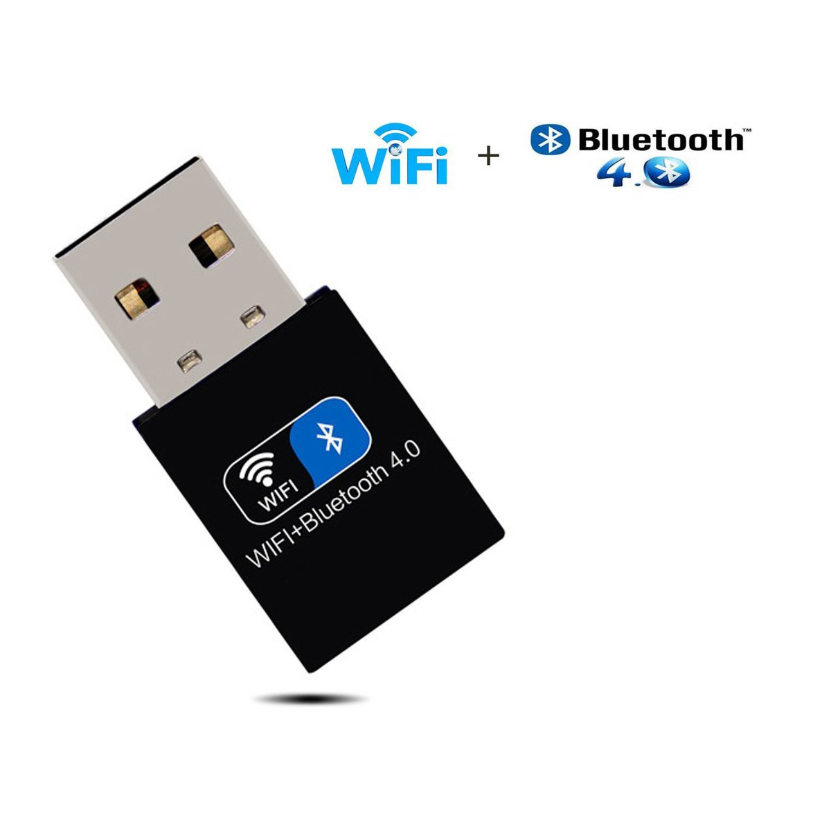 Wireless WiFi Bluetooth Adapter USB WiFi Dongle Network Adapter 150Mbps & Bluetooth Transmitter Receiver with External Antenna for Desktop/Laptop/PC, Supports Windows 7/8/8.1/10/XP/Vista by iFun4U