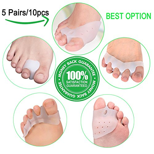 Bunion Corrector,Bunion Splint,Gel Bunion Pads for Foot Health Care,Toe Separators Spacers Straighteners-Relief Pain in Hallux Vagus,Big Toe,Tailors Bunion.Big Toe Joint. by Yumay-US