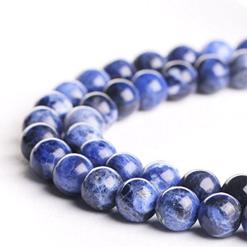 4 Prong Round Gem (Natural 4mm Blue Lace Agate Gemstone Loose Beads Polished Round Crystal Quartz Energy Healing Power Stone Beads For Jewelry Making&DIY)