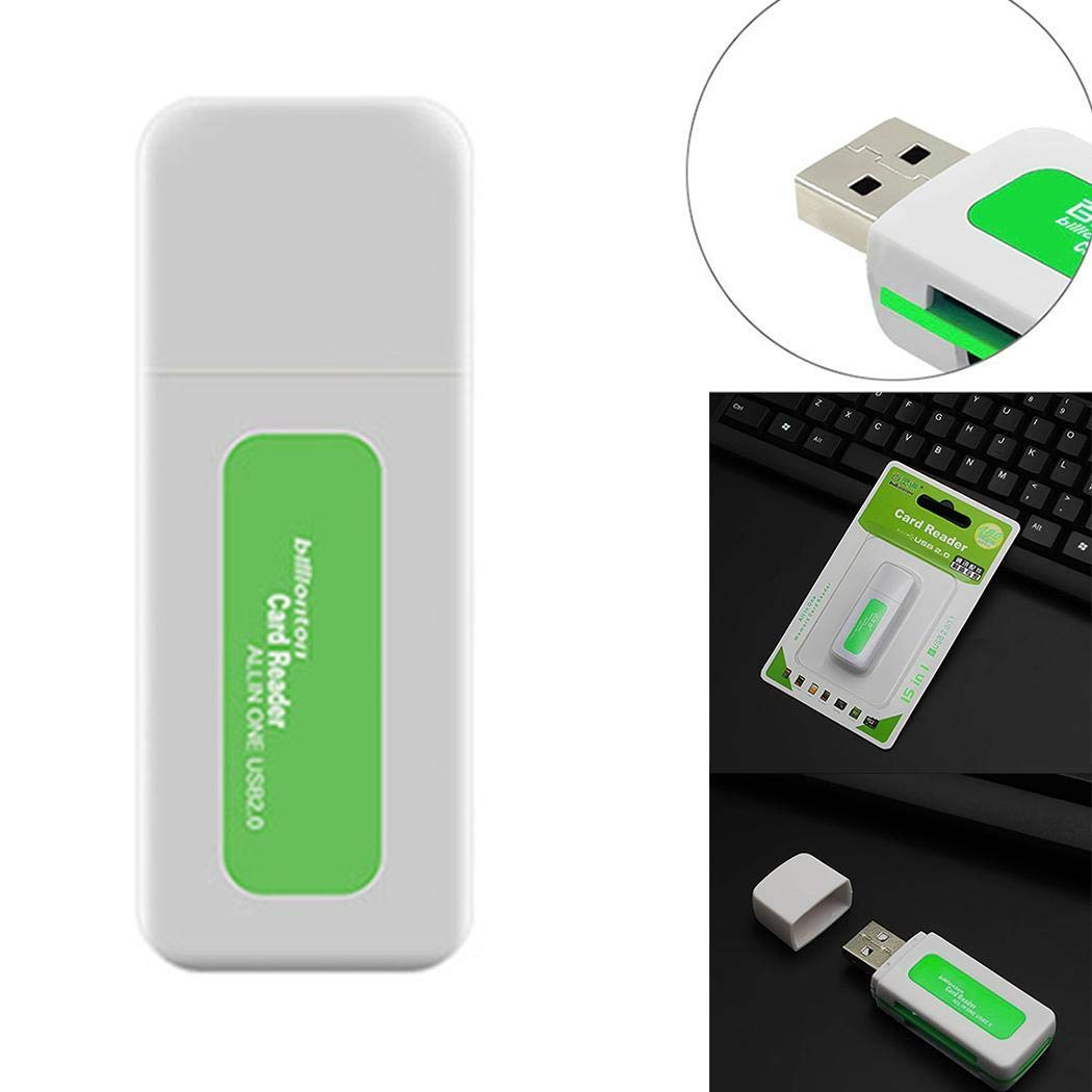 Pinsparkle 4 in 1 USB 2.0 Four Slots High Speed Card Reader for Smartphone Computer Memory Card Readers
