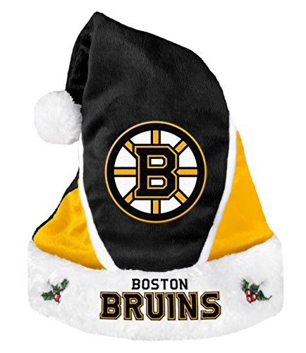 NHL Boston Bruins 2014 Colorblock Santa (Boston Bruins Santa Hat)