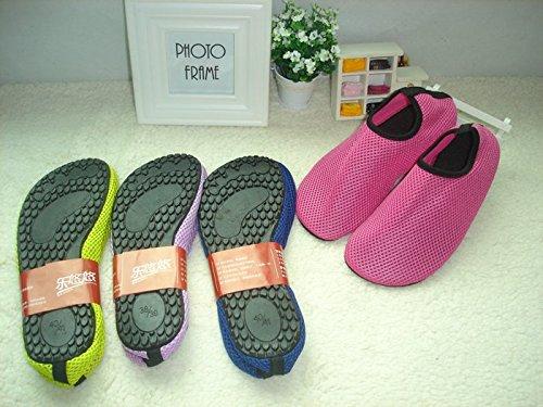 Aqua Water Sports Socken Haut Schuhe für Strand Fitness Yoga Scuba Lauf Gym Blau