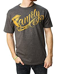 Men's Big Family Graphic T-Shirt-Large Charcoal Heather