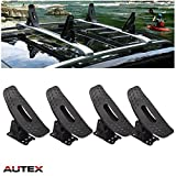 AUTEX Kayak Carrier Roof Rack Multi-Pivot Universal Roof Top Mounted Cradle Canoe Boat Surf Ski Saddles Sail Board Carrier Black Powder-Coated Steel Cross Bar