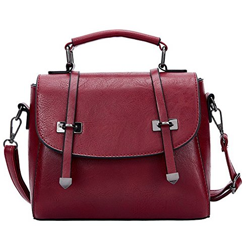Cartable Sacs Mode Cuir Vineux CCAFBP180719 VogueZone009 à bandoulière Rouge Pu Sacs Femme bandoulière Noir à q1pXt