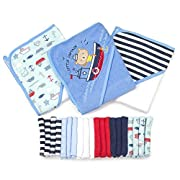 Spasilk 23-Piece Essential Baby Bath Gift Set, Navy Nautical