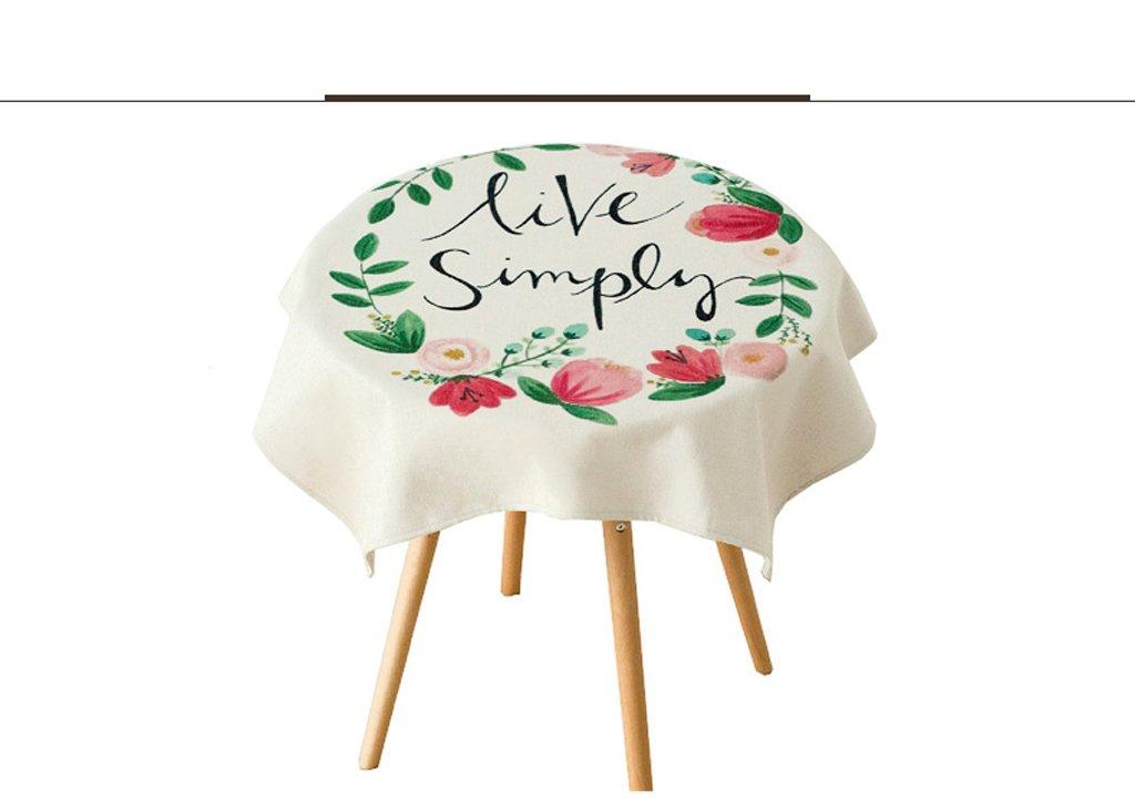 Pintado a mano de plantas de arte de algodón y lino Toalla de mesa de mesa Mantel (Tamaño : 85*85cm) : Amazon.es: Hogar