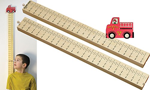 Growth Stick with Fire Truck Topper - Made in -