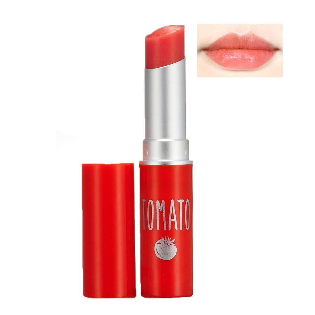 SKINFOOD Tomato Jelly Tint Lip (#03 Orange Tomato) - Moisturizing Tinted Lip Balm with Vitamin E Tomato Extracts, Healthy Looking Long Lasting Natural Lip Makeup