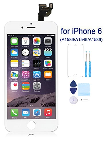Coobetter for iPhone 6 Screen Replacement LCD 3D Touch Screen Digitizer Display with Free Repair Tool Kits + Free Screen Protector (White)