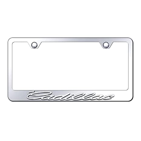 Amazon.com: Cadillac 3d Chrome Stainless Steel License Plate Frame ...