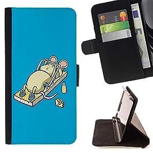 Momo Phone Case / Flip Funda de Cuero Case Cover - Divertida linda ratones del ratón del entrenamiento - Samsung Galaxy S5 V SM-G900