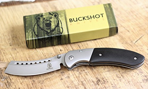 Wartech Buckshot Knives Thumb Open Spring Assisted Cleaver Classic Pocket Knife (PBK219BK)