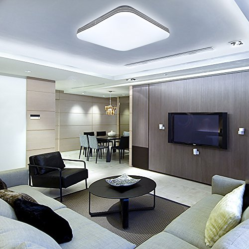 B-right 20W Square LED Flush Mount Ceiling Light, 5000K Cold White, 1400lm Super Bright, 13-Inch by B-right (Image #2)