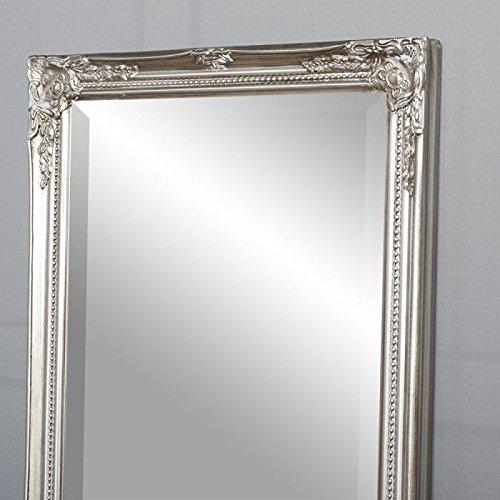 Lebenswohnart Spiegel Gracy Barock Antik Silber 170x40cm Wandspiegel