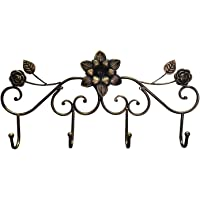GLJ Italian Rose Door Hanger Retro Hanger European Hanger Gyro Household Iron Decorative Hook Hook up