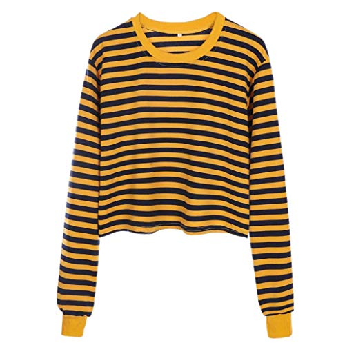 Fashion Women Cute Striped Tops Pullover Loose Sweater Blouse ()