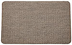 Nautica Ellaria Texteline 20 X 32 Anti Fatigue Kitchen Mat Natural Steel Furniture Decor Amazon Com