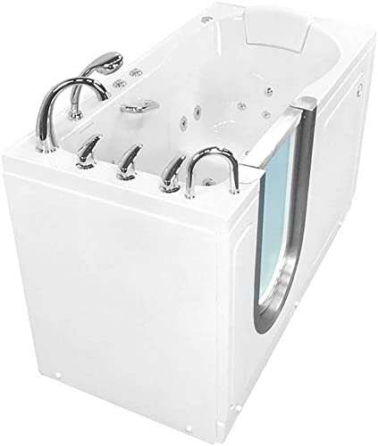 Ella s Bubbles HMH3057-HB Deluxe Hydro and Microbubble with Heated Seat, 30 x 55 , White