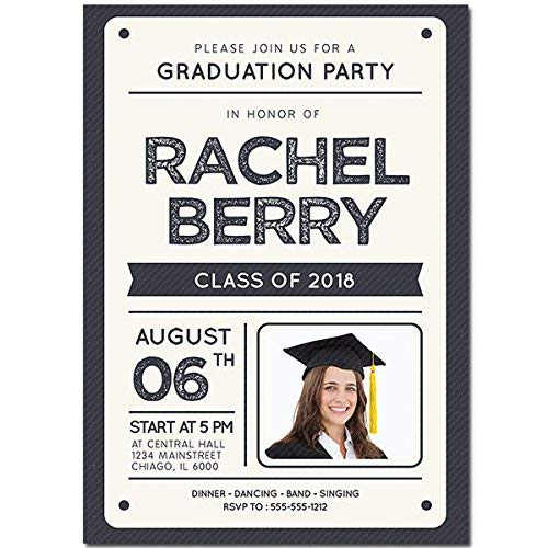- Ivory Custom Photo Graduation Party Invitation