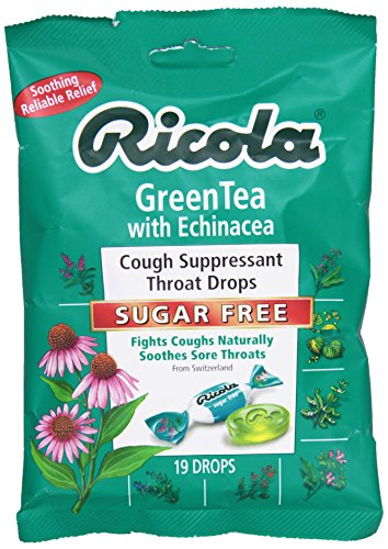 Ricola - естественная трава горло капли без сахара зеленый чай с эхинацеи - 19 змеевидные