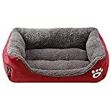 Washable Premium Dog and Cat Bed Lounge With Ultra Soft Plush Sherpa & Thick Organic Cotton - A Puppy and Kitty DREAM BED