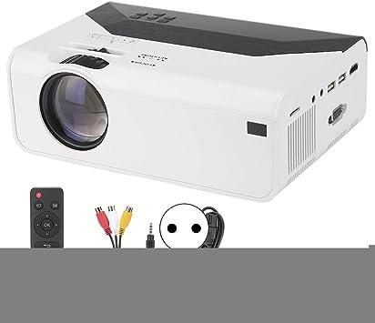 Opinión sobre gostcai Proyector LED, Proyector de Cine en casa Inteligente LCD de Alta resolución 480P/720P, Compatible con AV/USB/Tarjeta de Memoria/HDMI/VGA(480P)