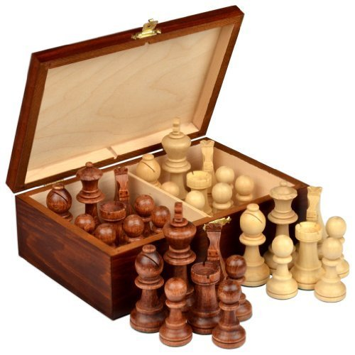 Staunton No. 7 Tournament Chess Pieces in Wooden Box by - Chess Staunton