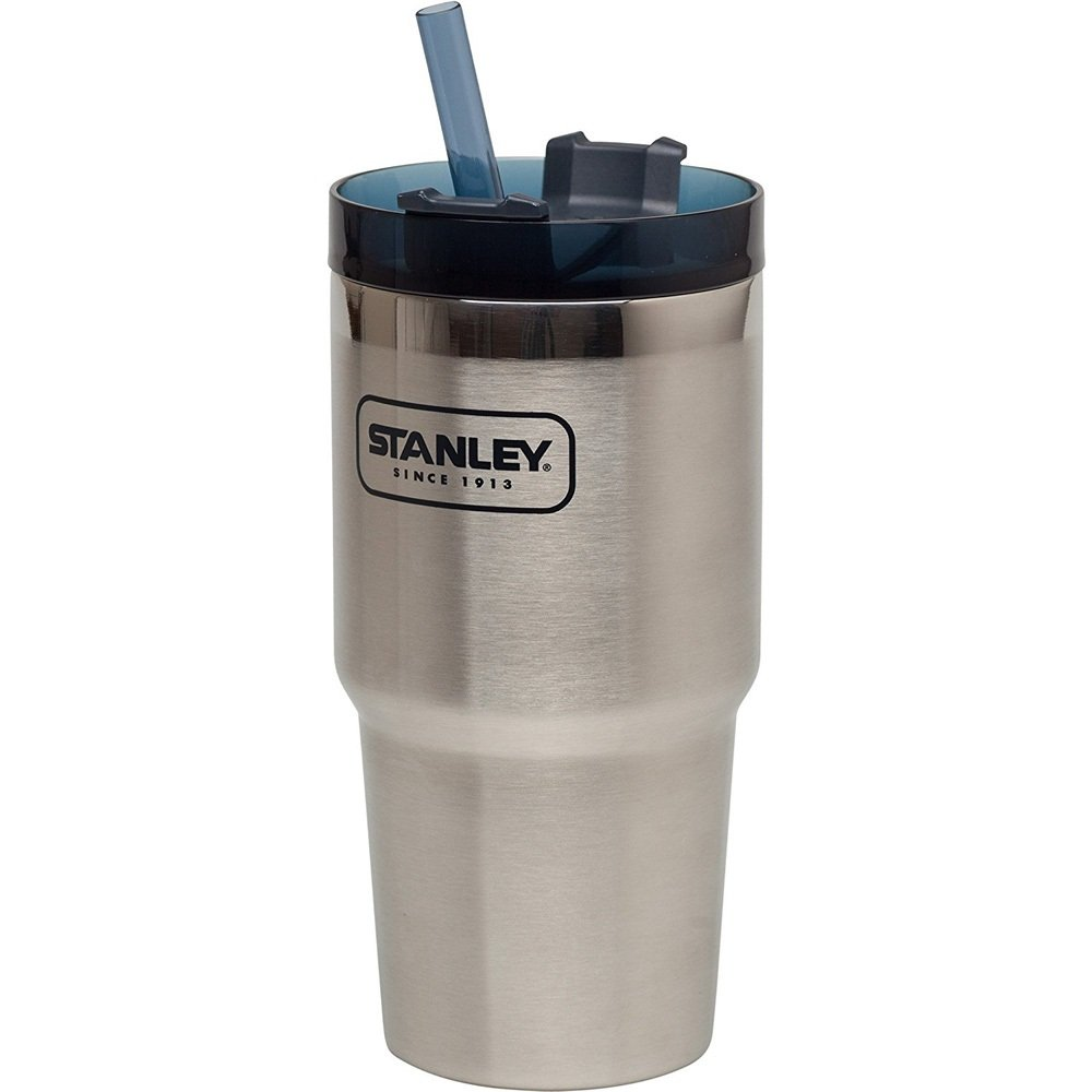 Stanley Adventure Vacuum Insulated Quencher Viaje Vaso, Acero Inoxidable, Matte Black, 0.59 Litre Pacific Market International 10-02662-004