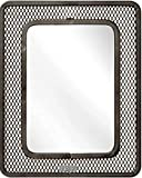 Magnetic Mash Mirror 5 ¼'' x 7''- Ideal for School Locker, Bathroom, Household Refrigerator, Workshop Toolbox Or Office Cabinet - Magnetic Back Sticks to Any Ferrous Metal Surface (Black MASH)