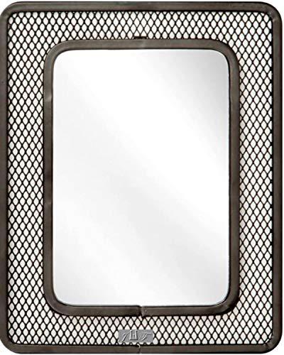 Espejo magnético de masa, 12,7 cm x 17,8 cm, ideal para escuela, baño, nevera, taller o clóset de oficina, parte trasera...