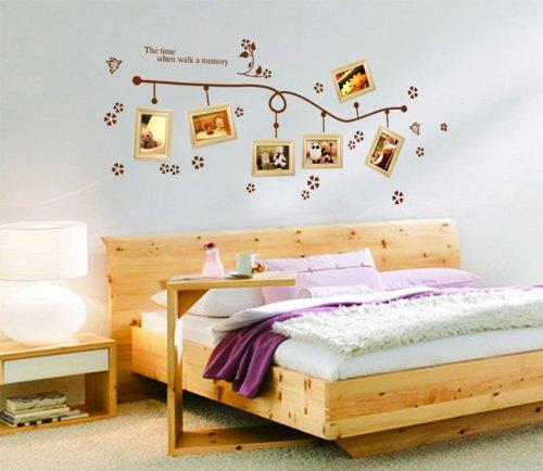 ufengke® muro farfalle vite creativo fiore foto adesivi murali ... - Stickers Murali Camera Da Letto