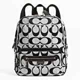 Coach Daisy Outline Signature Metallic Diaper Travel Laptop Backpack Bag