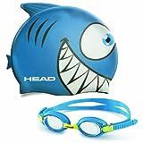 Head Kids Swim Cap and Goggle Set in Blue