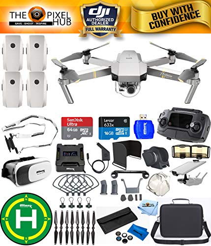 DJI Mavic Pro Platinum Edition Pro Accessory Bundle With Carry Case, 7 Piece Filter Kit, Vest Strap, Landing Pad Plus Much More (4 Batteries Total) Review