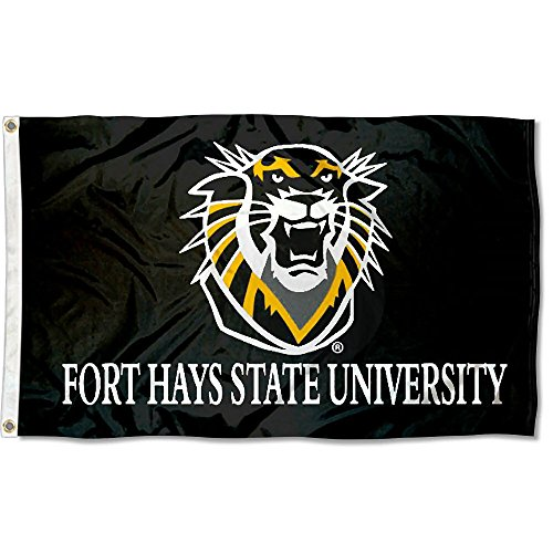 College Flags and Banners Co. Fort Hays State University Flag Large 3x5