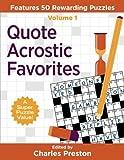 Quote Acrostic Favorites: Features 50 Rewarding