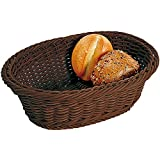 Kesper Fruit/Bread Oval Basket, 12.8'' x 9.45'' x 4.33'', Brown