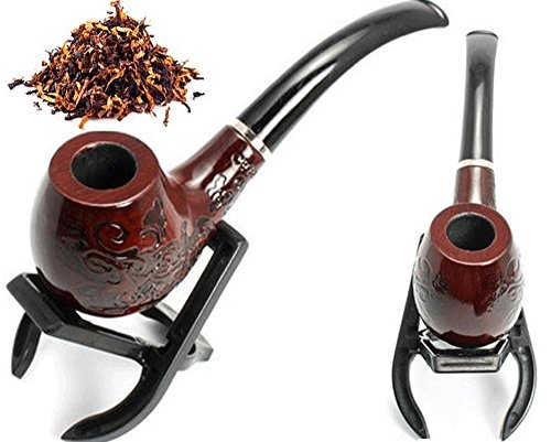 Tobacco Pipe Wooden Enchase Smoking Cigarettes Cigar Pipes Inside Filter Tip NEW (Neptune Table And Lid compare prices)