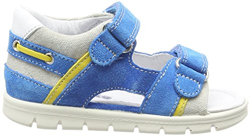 Naturino Falcotto 1503 - Sandalias Bebé-Niñas Azul - Blau (VELOUR/DELAVE' SKY-GRIGIO)