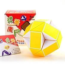 Christmas Gift & Stickerless Snake Magic Ruler Twist Puzzle (Yellow / white)