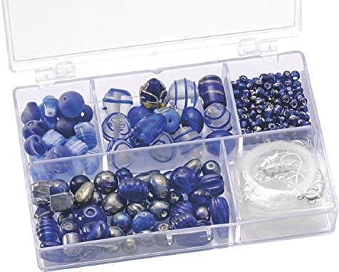 Knorr Prandell 6049350?Glass Bead Assortment Storage Box 11.5?x 7.5?x 2.5?cm Blue