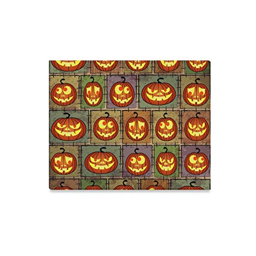 ENEVOTX Wall Art Painting Halloween Shabby Background with Funny Pumpkins Prints On Canvas The Picture Landscape Pictures Oil for Home Modern Decoration Print Decor for Living Room -