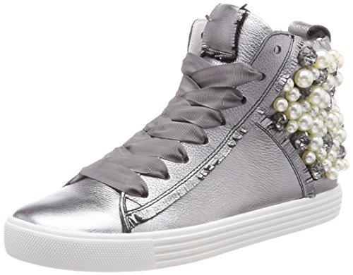 De De L'argent Blanc F minin Ville Sneaker Perle Et Et Chenil alluminio Haute La Unique 7qI0Zgwt