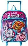 Nickelodeon Girls' Paw Patrol 12 inch Rolling Backpack, Purple