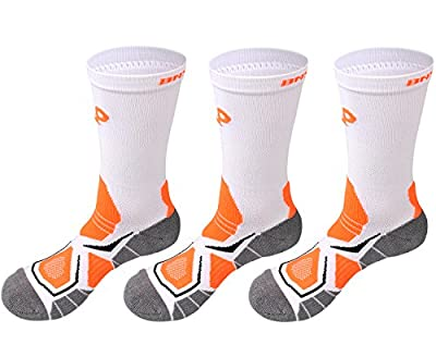 Boy's Sports Basketball Athletic Cushion Performance Calf High Crew Socks 3 Pack