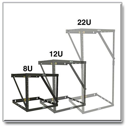 Tripp Lite 8U/12U/22U Expandable Wall-Mount 2-Post Open Frame Rack, Adjustable Network Equipment Rack, Switch Depth, 18'' Deep (SRWO8U22) by Tripp Lite (Image #3)