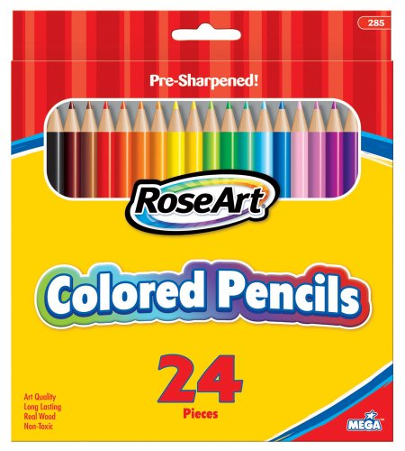 RoseArt Pre Sharpened 24 Count Packaging 285VA 48 product image
